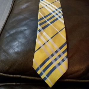 Burberry blue, white and yellow tie